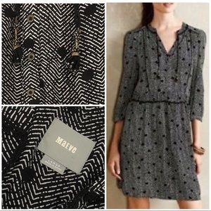L EUC Maeve Galen Tassel Dots Drop-waist Dress